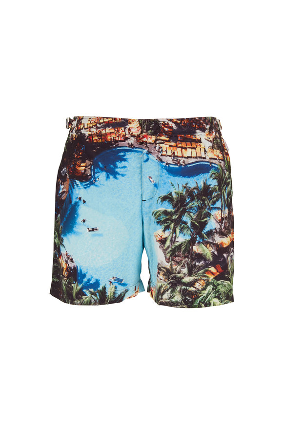 Orlebar Brown Bulldog Pooling Around Swim Trunks