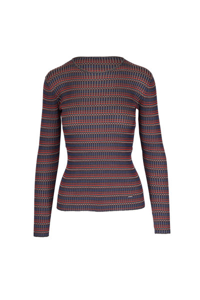 Akris - Multicolor Striped Ribbed Knit Top