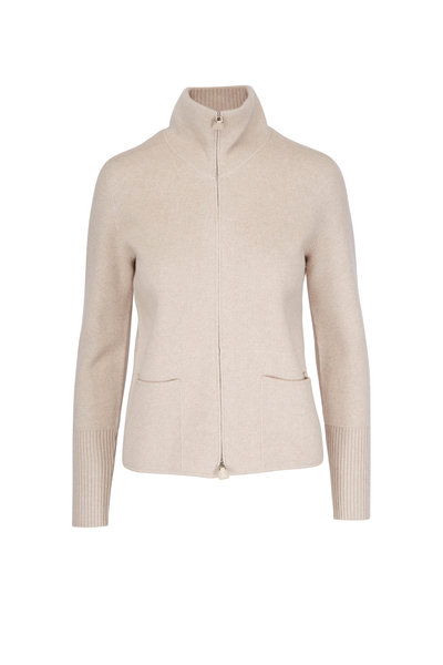 Akris - Mountain Ash Cashmere Full Zip Sweater