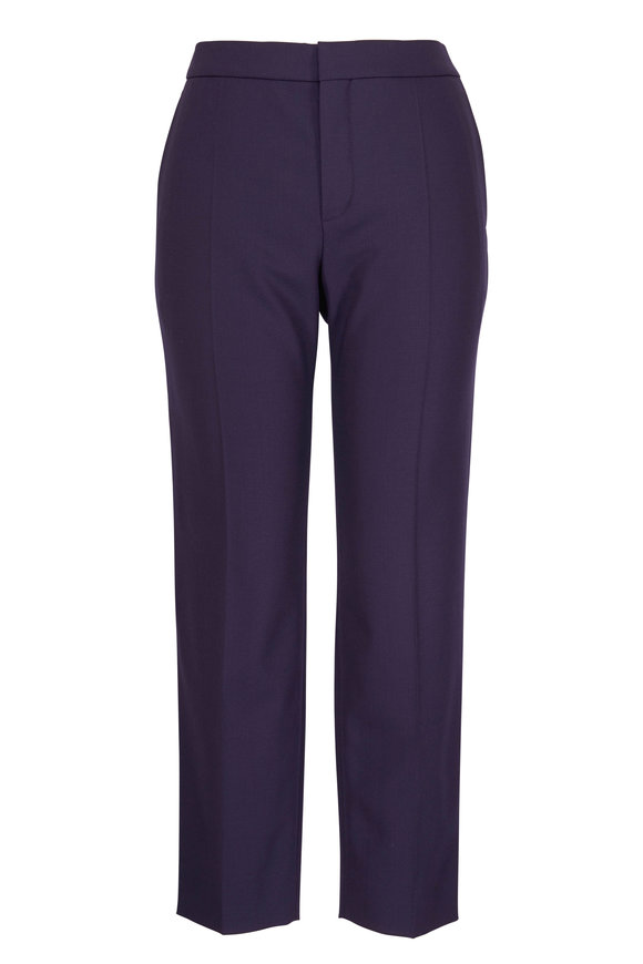 Chloé Moonless Night Cropped Trousers