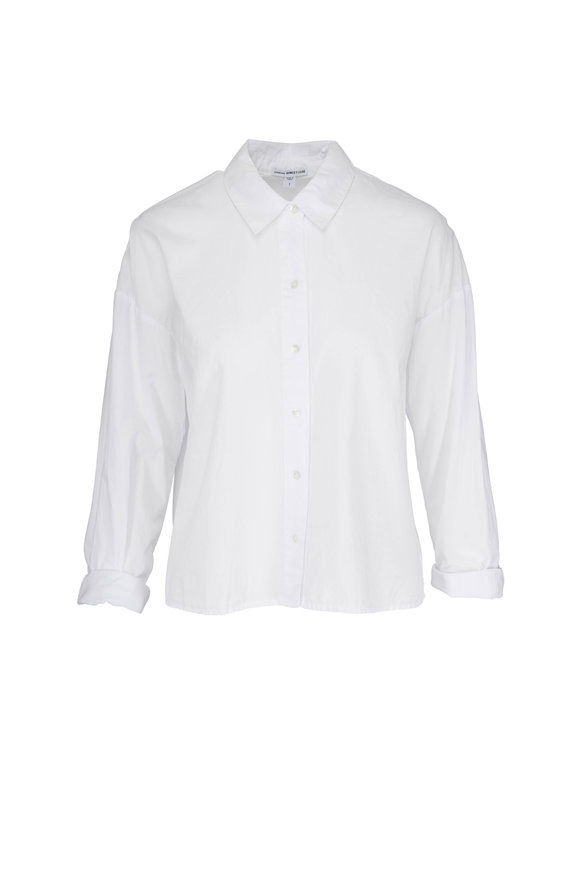 James Perse White Cotton Lawn Shirt