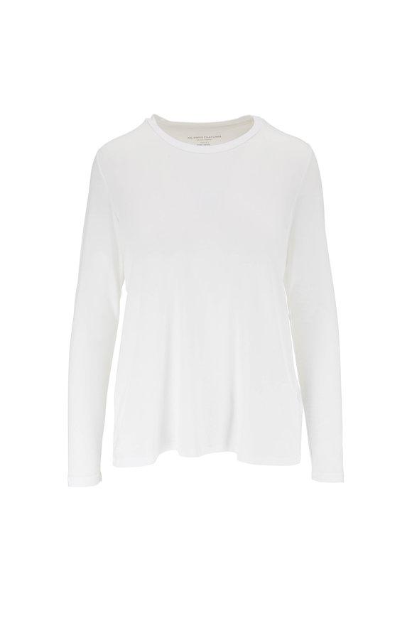 Majestic White Extrafine Superwashed Long Sleeve T-Shirt