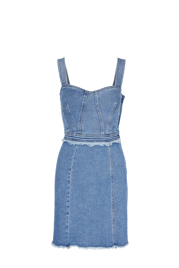 7 For All Mankind Muse Denim Fray Dress