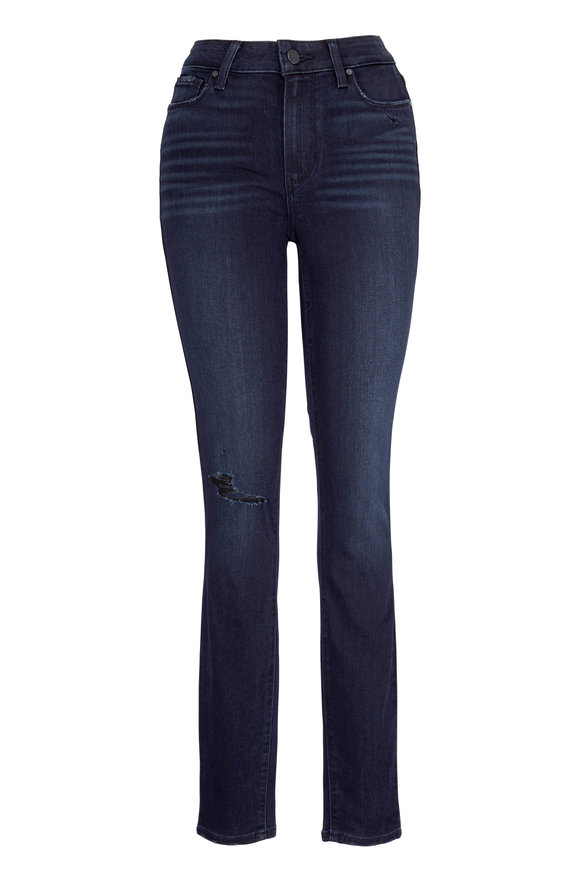 Paige Denim Hoxton Black High-Rise Ultra Skinny Jean