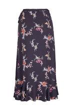 Paige Denim - Alamar Black Floral Skirt