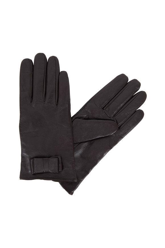 Adrienne  Dark Brown Leather Keyhole Wrist Glove