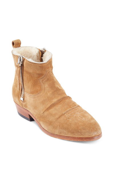 Golden Goose - Tawny Suede Shearling Lined Short Boots
