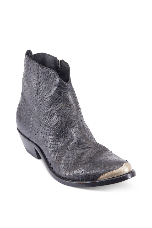 Golden Goose Young Viper Scales Black Boots, 50mm