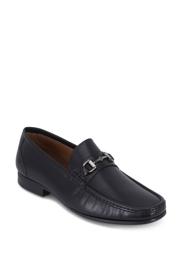 Peter Millar Hyberlight Black Leather Bit Loafer