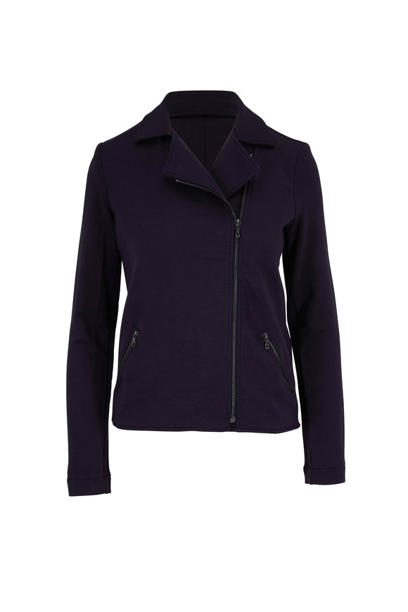 Majestic Marine French Terry Soft Touch Moto Jacket