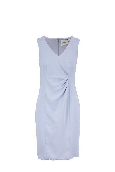 Donald Deal - Lilac Georgette Drape Front Sleeveless Dress