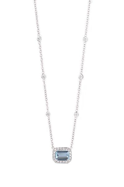 Penny Preville - White Gold Aquamarine Pendant