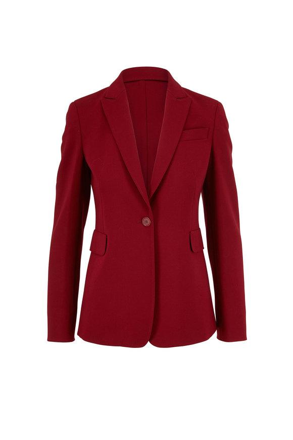 Akris Punto Ruby Red Crêpe Single Button Blazer