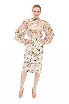 Dolce & Gabbana - Light Pink Lily Print Stretch Pencil Skirt