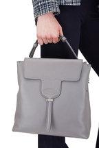 Tod's - Joy Dark Gray Pebbled Leather Small Hobo Bag