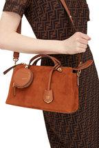 Fendi - By The Way Rust Suede Medium Boston Bag