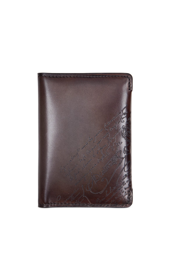 Berluti Ice Brown Leather Card Case