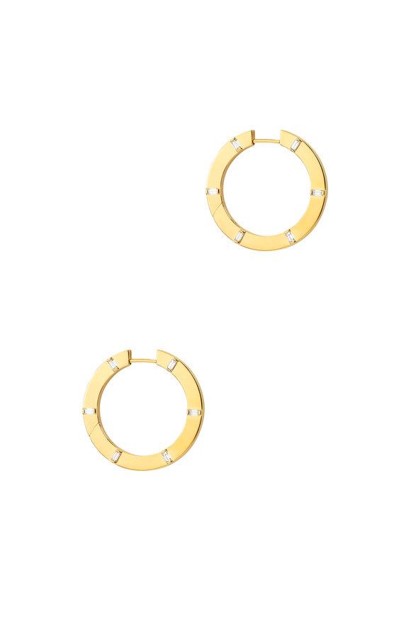 Cadar 18K Yellow Gold Prime Diamond Hoop Earrings