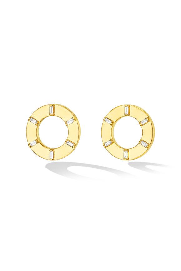 Cadar 18K Yellow Gold Prime Unity Stud Earrings