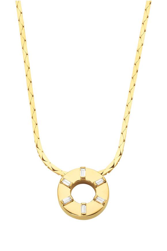 Cadar 18K Yellow Gold Prime Diamond Pendant Necklace