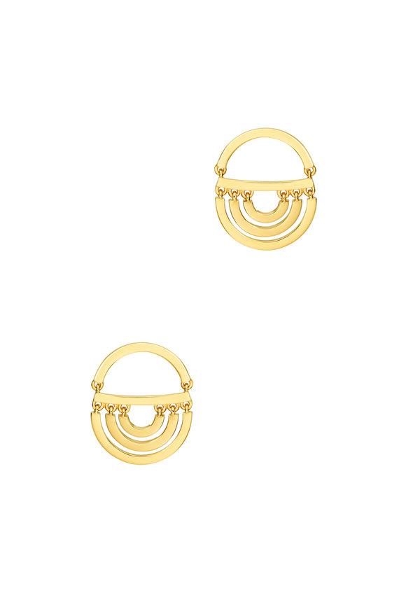 Cadar 18K Yellow Gold Twin Drop Earrings