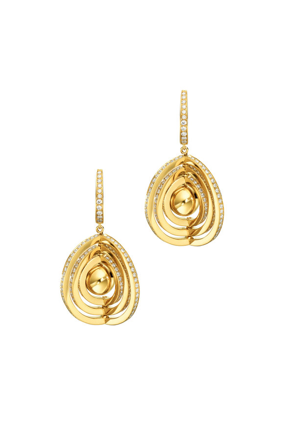 Cadar 18K Yellow Gold Duality Earrings
