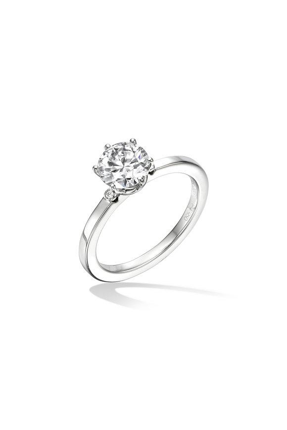 Cadar Platinum Solitaire Diamond Ring