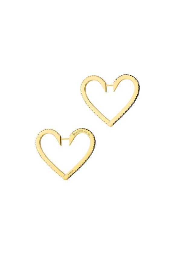 Cadar 18K Yellow Gold Endless Large Heart Hoops