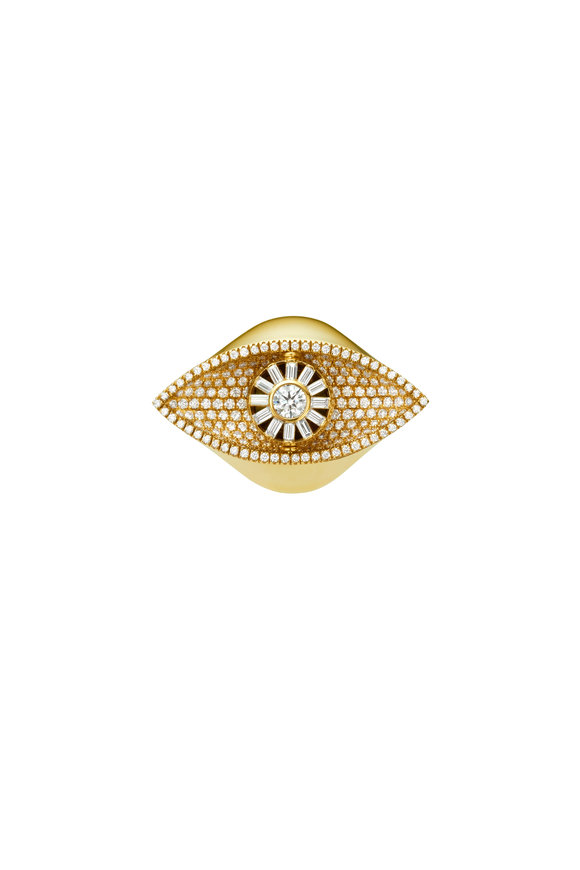 Cadar 18K Yellow Gold Reflections Cocktail Ring