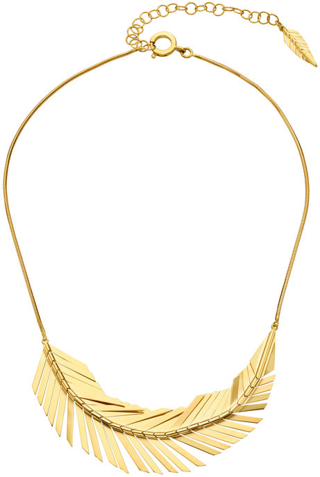 Cadar 18K Yellow Gold Feather Necklace