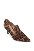 Gianvito Rossi - Aramis Leopard Print Suede Loafer, 55mm