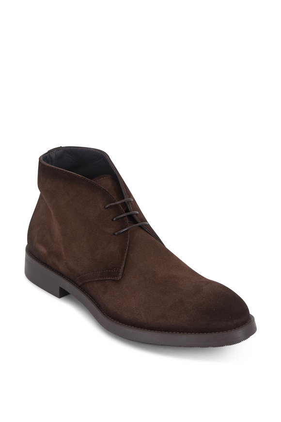 To Boot New York Ardsley Brown Burnished Suede Chukka Boot