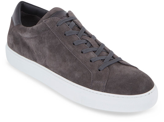 To Boot New York Knox Lava Gray Suede Low-Top Sneaker
