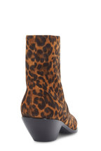 Saint Laurent - West Leopard Print Suede Ankle Boot, 45mm