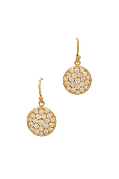 Caroline Ellen - 20K Yellow Gold Diamond Earrings