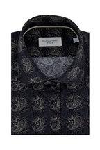 Tintoria - Navy Paisley Print Sport Shirt