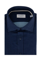 Tintoria - Navy Check Contemporary Fit Sport Shirt
