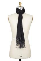 Raffi - Black & Slate Double-Faced Cashmere Scarf
