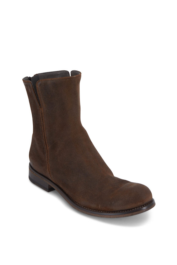 To Boot New York Women Womens Jordana Cigar Distressed Suede Low Boot