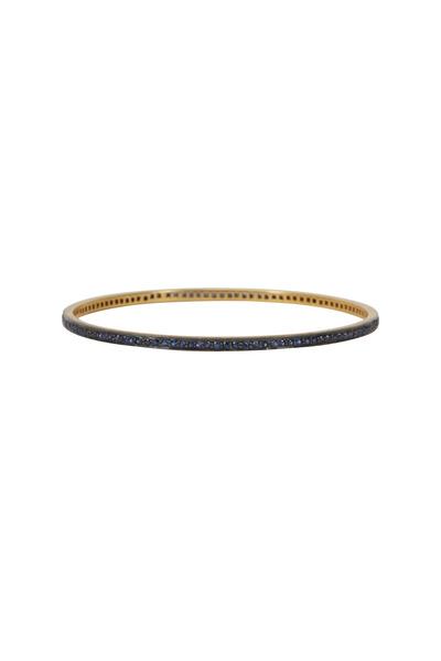 Loren Jewels - Sterling Silver Blue Sapphire Bangle Bracelet