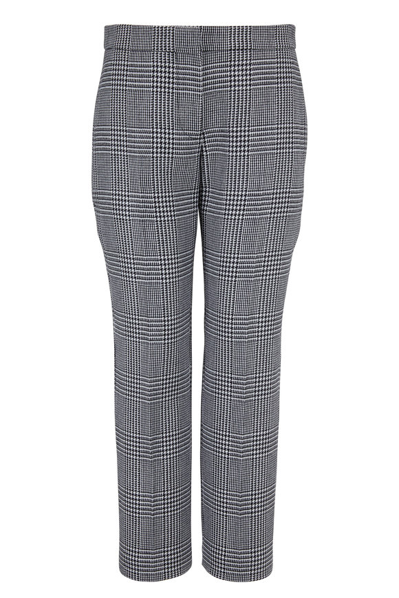 Alexander McQueen Black & White Prince Of Wales Cigarette Leg Pant