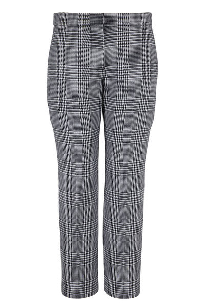 Alexander McQueen - Black & White Prince Of Wales Cigarette Leg Pant