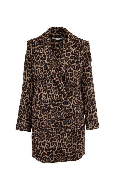 Veronica Beard - Senna Leopard Print Dickey Coat