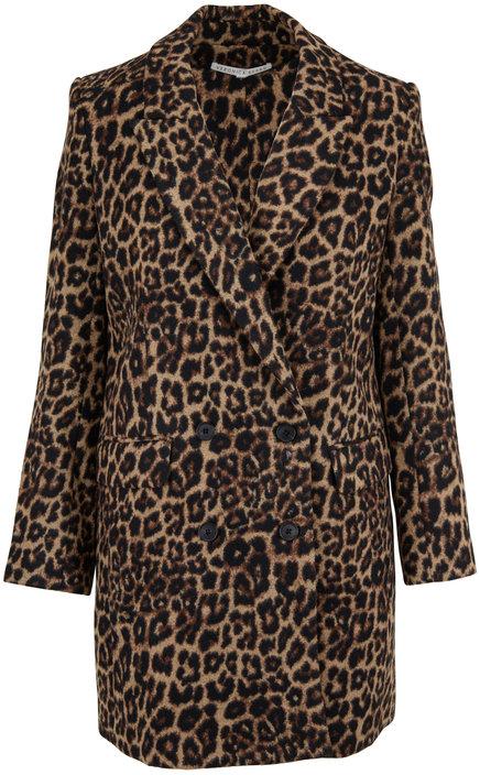 Veronica Beard Senna Leopard Print Dickey Coat