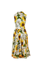 Samantha Sung - Asterd Sunflower Print Sleeveless Midi Dress