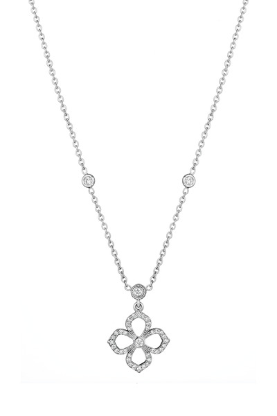 Penny Preville - Flower Petal White Gold Diamond Pendant