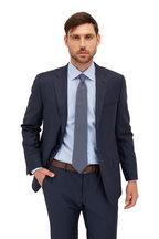Eton - Blue Check Contemporary Fit Dress Shirt