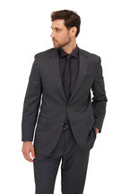 Bagutta - Charcoal Gray Poplin Slim Fit Dress Shirt