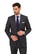 Canali - Charcoal Gray Tonal Plaid Wool Suit