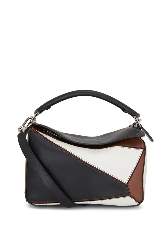 Loewe Small Puzzle Black & Brown Leather Shoulder Bag
